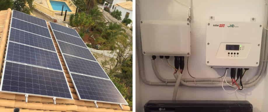 Instalación solar fotovoltaica en municipio costero de Alicante