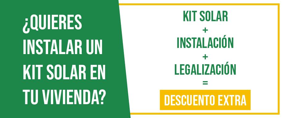 ¿Quieres instalar un kit solar en tu vivienda?