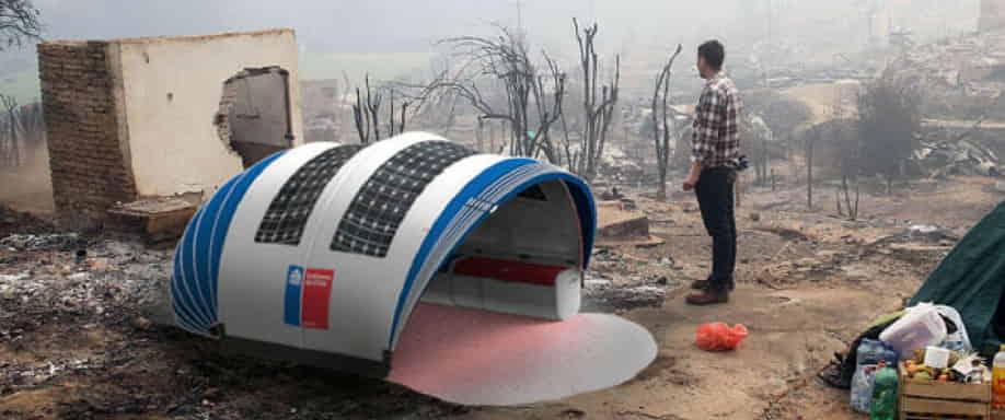 Un estudiante de Chile diseña una carpa para emergencias que incorpora paneles fotovoltaicos flexibles