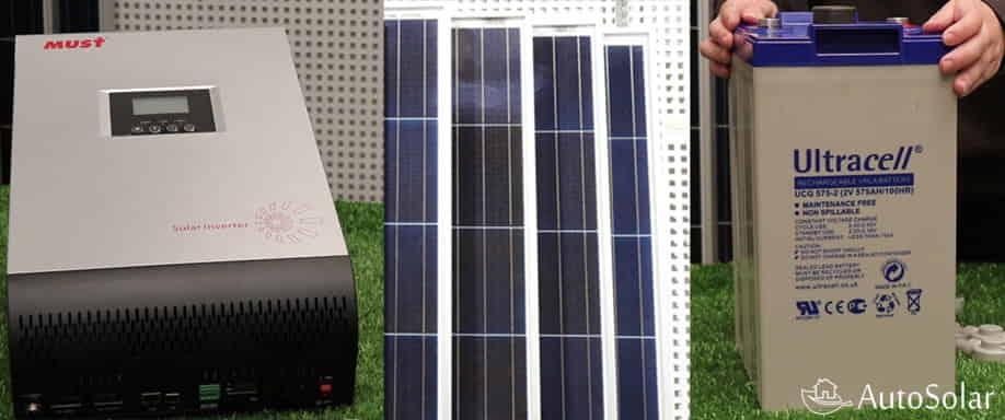 Relaci n entre placas solares bater as e inversor de una for Baterias placas solares