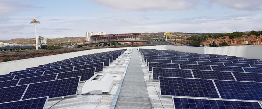 Energía solar en el transporte público de Murcia