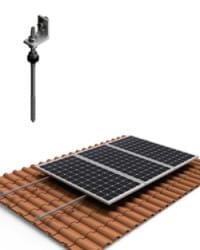 Estructura Cubierta Tejas 1 Panel Solar con varilla 01V