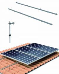 Estructura Cubierta Tejas 15 Paneles Solares con varilla