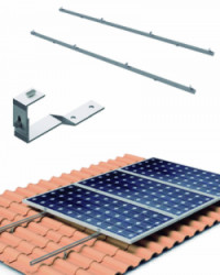 Estructura Cubierta Tejas 4 Paneles Solares