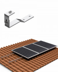 Estructura Cubierta Tejas 5 Paneles Solares 02V