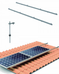 Estructura Cubierta Tejas 5 Paneles Solares Horizontal con varilla