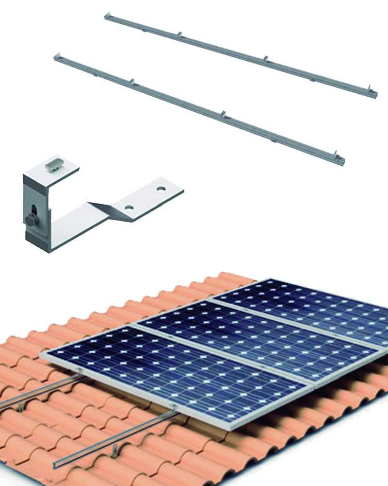 Estructura Cubierta Tejas 6 Paneles Solares