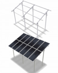 Estructura Elevada ELV 2x10 Paneles 20º 3M