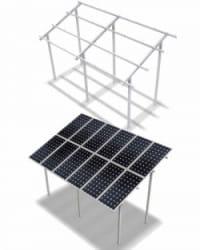 Estructura Elevada ELV 2x20 Paneles 20º 3M