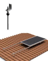 Estructura Horizontal Tejas 1 Panel Solar con varilla 01H
