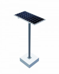 Estructura Panel Solar Poste 1 Panel 18H1