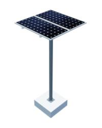 Estructura Panel Solar Poste 2 Paneles 18H2
