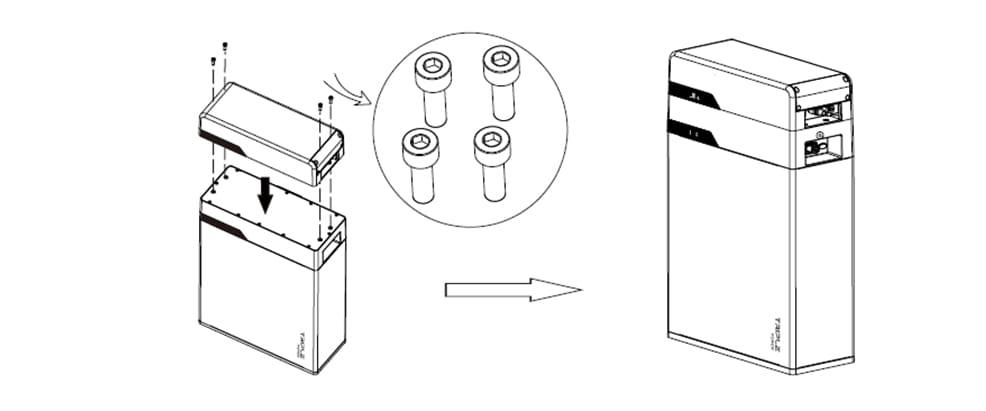 Instalación del Módulo BMS o Master Box a la batería SolaX