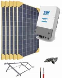 Kit Bombeo Solar  Monofásico para bombas hasta 1cv