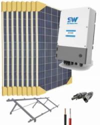 Kit Bombeo Solar  Monofásico para bombas hasta 2cv