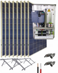 Kit Bombeo Solar para bomba trifásica 230V hasta 3cv
