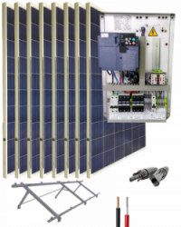 Kit Bombeo Solar para bomba trifásica 400V hasta 3cv