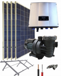 Kit Depuradora Solar 1cv Monofásica para piscina