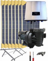 Kit Depuradora Solar 2cv Trifásica para piscina