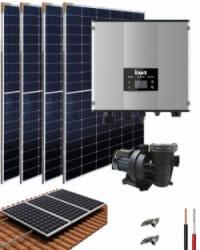 Kit Depuradora Solar con bomba 0.75cv para piscina
