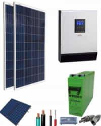 Kit Panel Solar 1000W 12V 1000Whdia  con cargador