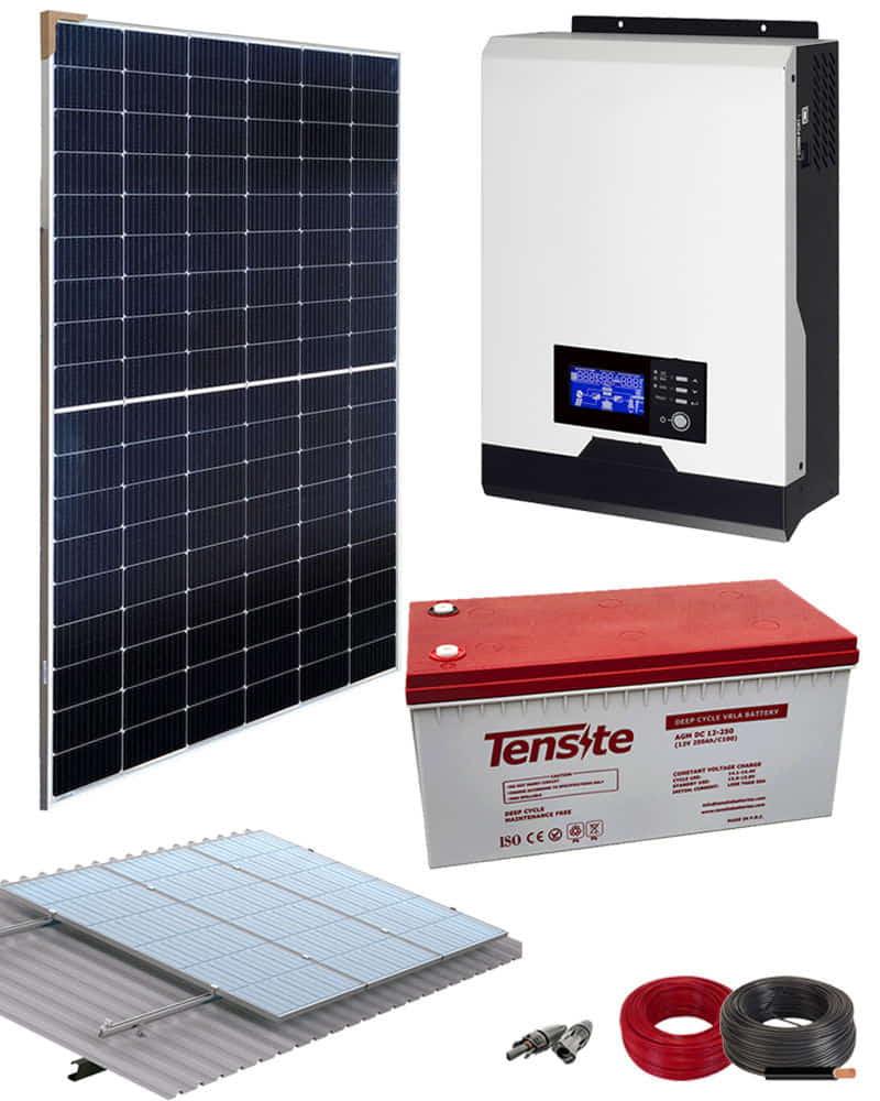Kit Panel Solar 1000W 12V 2000Whdia  con cargador