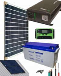 Kit Panel Solar 1400W 12V 1000Whdia  con batería AGM
