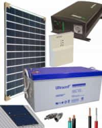 Kit Panel Solar 1400W 12V 1000Whdia  con Batería de Gel