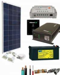 Kit Panel Solar 1400W 12V 750Whdia  con Batería de Gel