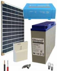 Kit Panel Solar 250W 12V 1000Whdia  con inversor Victron