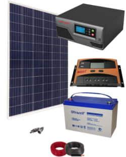 Kit Panel Solar 300W 12V 750Whdia