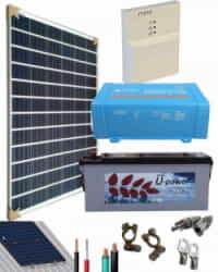 Kit Panel Solar 375W 12V 1000Whdia  con batería AGM