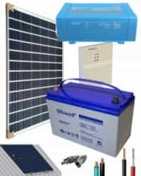 Kit Panel Solar 375W 12V 1000Whdia  con Batería de Gel