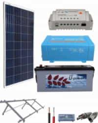 Kit Panel Solar 375W 12V 750Whdia  con batería AGM