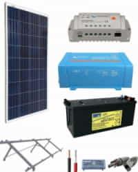 Kit Panel Solar 375W 12V 750Whdia  con Batería de Gel