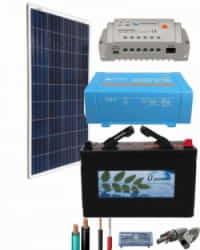 Kit Panel Solar 375W 12V 750Whdia  con inversor Victron