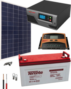 Kit Panel Solar 600W 12V 1000Whdia  con Batería de Gel