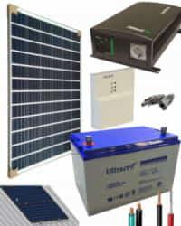 Kit Panel Solar 700W 12V 1000Whdia  con batería AGM