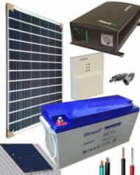 Kit Panel Solar 700W 12V 1000Whdia  con Batería de Gel