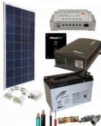 Kit Panel Solar 700W 12V 750Whdia  con batería AGM