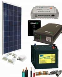 Kit Panel Solar 700W 12V 750Whdia  con Batería de Gel