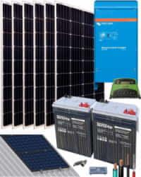 Kit Solar 2000W 12V 4500Whdia  con inversor Victron