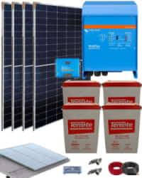 Kit Solar 3000W 24V 8100Whdia  con inversor Victron