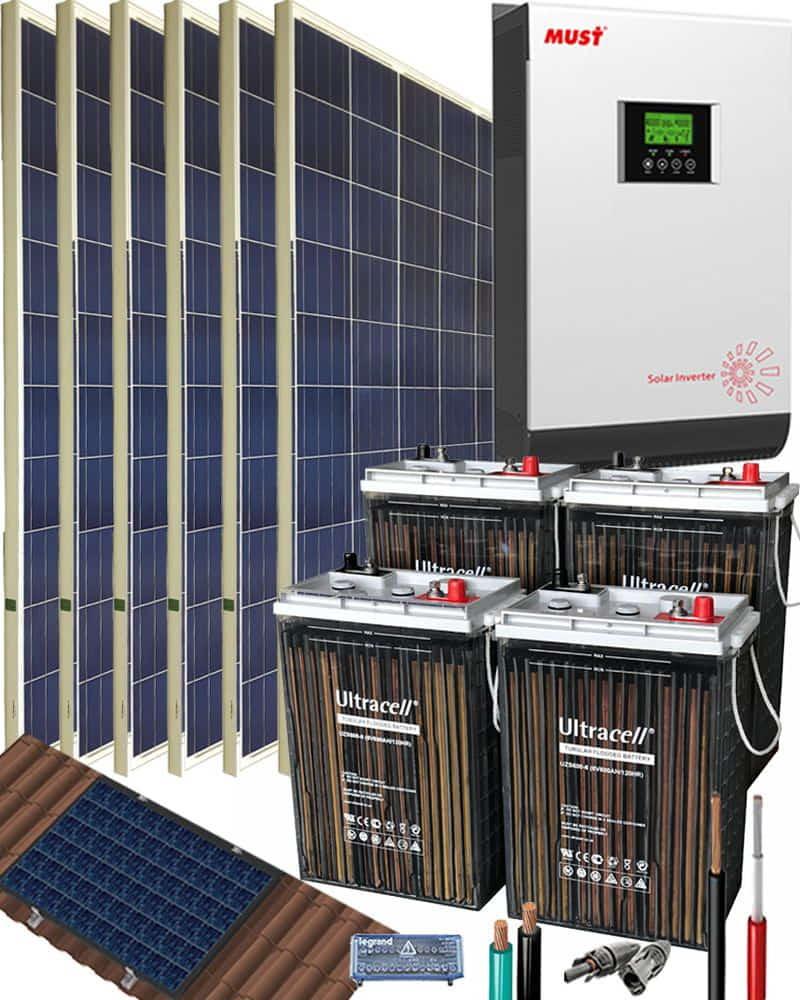 Kit Solar 3000W 24V 8100Whdia