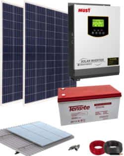 Kit Solar AGM 1000W 12V 2000Whdia