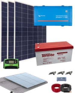 Kit Solar AGM 1200W 12V 3000Whdia