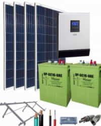 Kit Solar Aislada 1000W 12V 3000Whdia