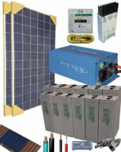 Kit Solar Aislada 1200W 24V 3050Whdia