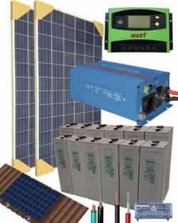 Kit Solar Aislada 1200W 24V 3200Whdia