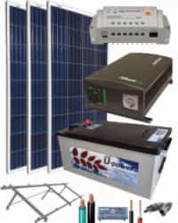 Kit Solar Aislada 1400W 12V 2250Whdia